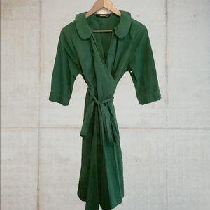 Eshakti Custom Cotton Poplin Wrap Dress US 14P